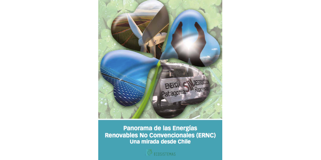 Ecosistemas lanza libro sobre Panorama de las ERNC en Chile