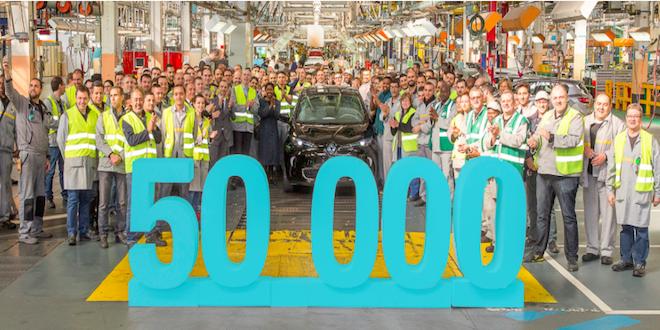 Renault eléctrico ZOE alcanza 50 mil unidades vendidas en Europa