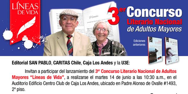 Nuevo concurso literario para adultos mayores