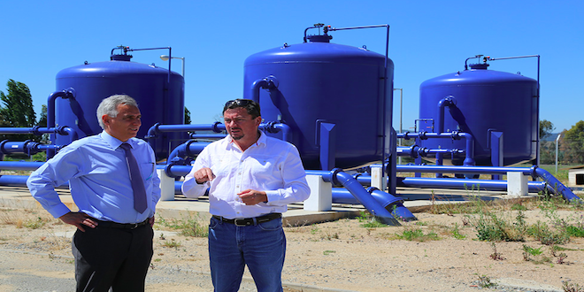 Gobierno de O'Higgins invierte $ 20 mil millones en planta de agua potable