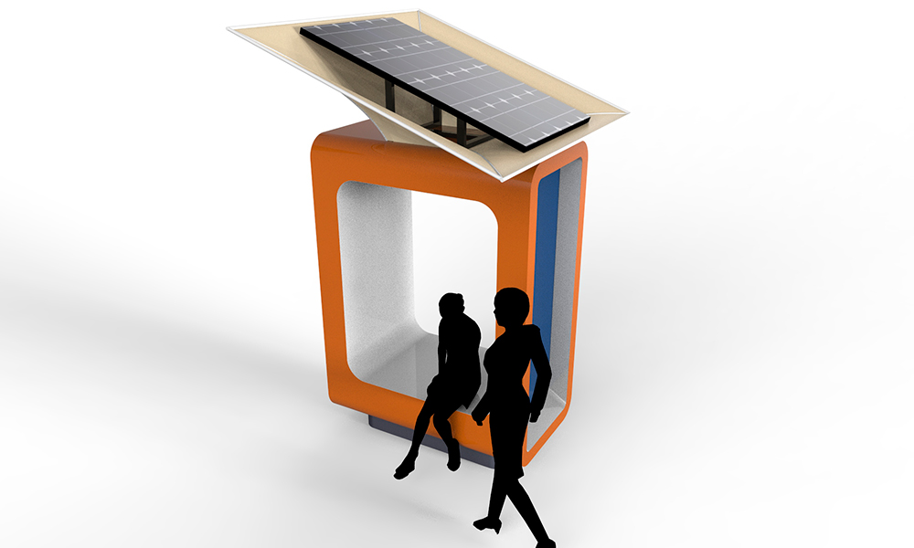 Estaciones solares públicas permitirán cargar celulares y tablets en Antofagasta