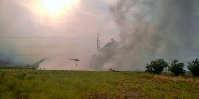 Descontrolado incendio forestal en Pudahuel y Maipú