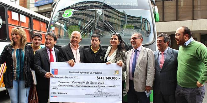 Renovarán 42 vehículos de transporte público en La Araucanía
