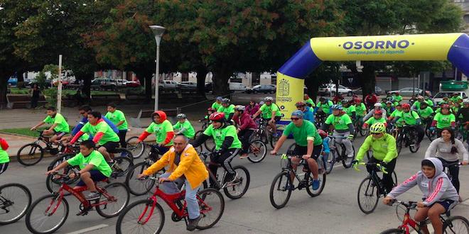Con cicletada se inicia conmemoración de 459° aniversario de Osorno