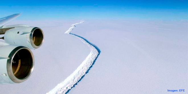 Se desprende de la Antártida uno de los mayores iceberg del mundo