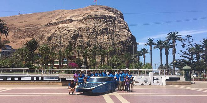 Auto solar recorrió casi 2.000 mil km de Santiago a Arica