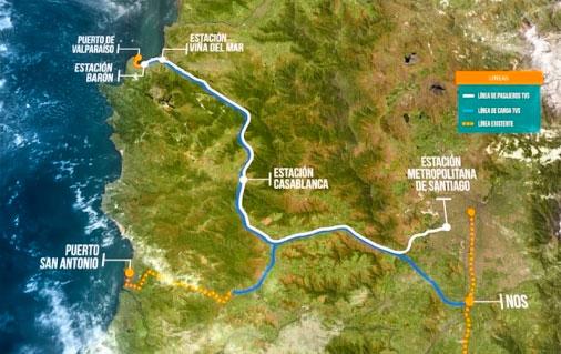 Líderes regionales apoyan tren rápido Valparaíso-Santiago