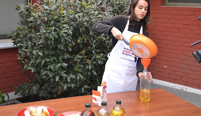 Vitacura apuesta por el reciclaje de aceite
