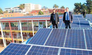 Inauguran el primer sistema fotovoltaico en un liceo de Valparaíso
