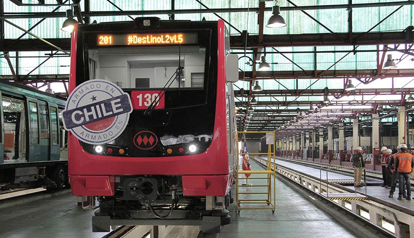 Próximo estreno de los primeros trenes de Metro armados en Chile
