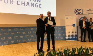Biofactoría de Aguas Andinas recibe premio en Cumbre de Cambio Climático COP24